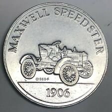 # C8564    ANTIQUE CAR   ALUMINUM  TOKEN,  1906   MAXWELL SPEEDSTER