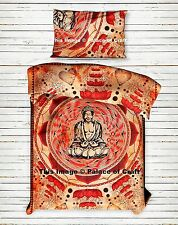 Indian Lord Buddha Meditation Lotus Peace Duvet Doona Quilt Comforter Cover Boho