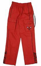 Zipway NBA Basketball Youth (8-20) Chicago Bulls Cargo Comfy Fleece Pants, Red
