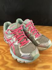 Asics Gt 1000 T4K8N Womens Size 9.5 Running Tennis Shoes Pink/Silver Sneakers