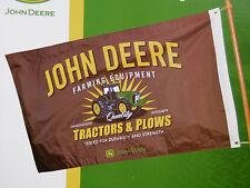 """John Deere 28"""" x 44"""" dekorative lizenziert landwirtschaftliche Gerät Traktoren & Pflüge Flagge"""