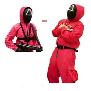 Squid Game villain jumpsuit Cosplay Costume Halloween party Round Six Props