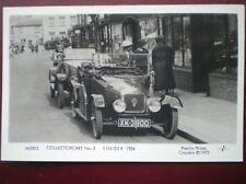 POSTCARD CAR SINGER CAR C1924