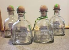 Lot of 4 Empty Patron Silver Tequila Bottles Corks 750ml Arts Crafts