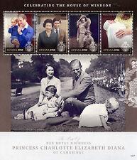 Guyana 2015 MNH Princess Charlotte Birth Royal Baby 4v M/S Prince William Kate