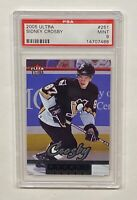 2005-06 FLEER ULTRA HOCKEY SIDNEY CROSBY ROOKIE CARD #251 HOF PENS PSA 9 MINT!!