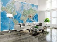 Neue Weltkarte Tapete XXL Wanddekoration Schlafzimmer 336 cm x 238 cm