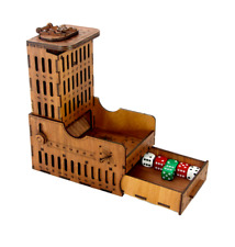 Steampunk Dice Tower - Unique -  3.5mm hardwood laser cut with amazing details!