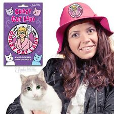 Crazy Cat Lady Embroidered Patch Kitten Kitty Funny Gag Gift