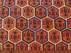 Cotton Quilt Fabric Patchwork Print Floral Orange Purple Yellow BTHY