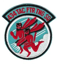 USAF AIR FORCE PATCH 434 TACTICAL FIGHTER TRAINING SQUADRON