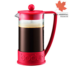 Bodum Brazil French Press 0 35-Liter 3-Cup Coffee Maker 12-Ounce Red