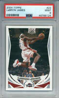 2004-05 Topps LeBron James #23 (2nd YEAR) Cleveland Cavaliers PSA 9
