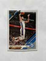 2019-20 Panini Clearly Donruss Basketball Ben Simmons Gold Parallel Card #33