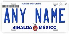 Sinaloa Mexico Any Name Number Novelty Auto Car License Plate C02