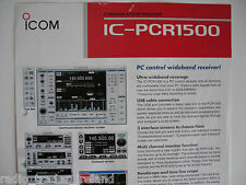 Icom-pcr1500 (Genuino folleto sólo).......... radio_trader_ireland.