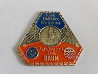 Vintage German Automobile Club Porcelain Enamel Metal Car Grille Badge Sign 452