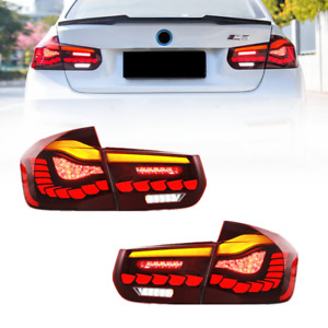 Pair LED GTS Style Tail Lights For BMW F30 F80 M3 3 Series 2012-2018 Rear Lamps