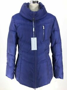 Andrew Marc New York NWT Elegant INK BLUE Down Jacket Pillow Collar size L