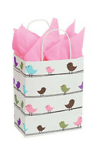 Little Birdies Paper Medium Shopping Bag 8� x 4 ½ x 10 ¼ Inches - Case of 25