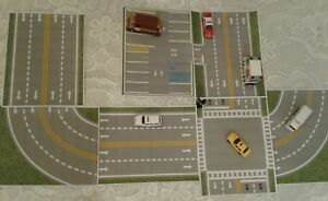"""""""My TOWN"""" Play Driving Road & PARKING LOT For Hot Wheels Matchbox Track Builder"""
