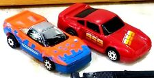 Matchbox Burnin Key Cars w POWER KEY Ferrari Orange & Blue also Red 959 Porsche
