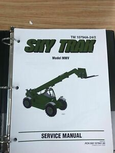 Skytrak JLG MMV Forklift Full Service Maintenance Manual Book
