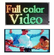 "25""x 12"" Full Color Video P10 LED Sign Programmable Scrolling Message Display"
