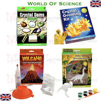Science Crystal Growing Kit, Gems Kit, Create A Volcano or Paint your Dinosaur