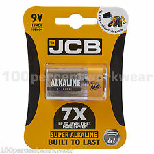 1 x 9V 6LR61 JCB Super Alkaline Square Block Battery for Smoke Detectors Alarm