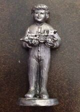 T13R.7 CHILD WITH TOY TRAIN 1992 #16932 Michael A Ricker Pewter Figurine 3.5in