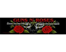 GUNS N ROSES guns logo 2012 - WOVEN STRIP SEW ON PATCH official (sealed)