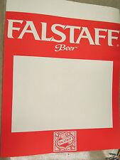 Falstaff Beer Advertising Poster, display sign, man cave decoration