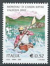 2002 ITALIA MONDIALE DI CANOA KAYAK VALSESIA MNH **