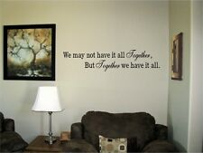 We may not have it all together Vinyl Wall Decal Stickers Decor Letters Saying