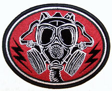 GAS MASK PATCH P5860 biker jacket patches NEW chemicals novelty iron on heat sew