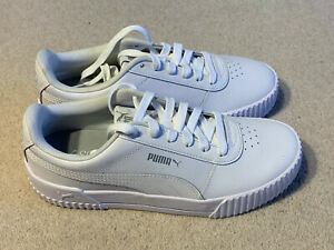 Puma Carina ladies leather trainers   white   size 5.5   new