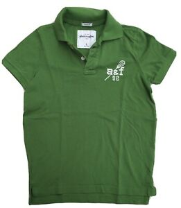 Boys Bright Green Iconic Abercrombie Polo Size L - Age 12