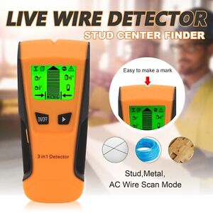 3 In 1 Metal Wood Studs Electric Live Wire Detector AC Voltage Wall Scanner