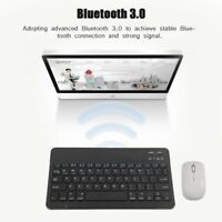 9/10.1'' Slim Wireless Bluetooth Keyboard For iPhone Smartphone Tablet PC Laptop