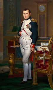 Jacques-Louis David, Emperor Napoleon in His Study at the Tuileries Canvas Print
