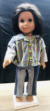 American Girl Doll Blue Eyes Brown Hair Stylish Tomboy Hipster