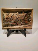 """Ivorex Wall Plaque """"Ann Hathaways Cottage - Shottery"""", Appr. 23x16cm"""