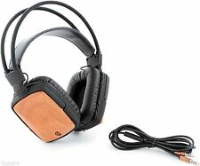Rustic Griffin WoodTones Lightweight Bass Headphones with Microphone Control