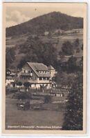 """Ansichtskarte Sitzendorf/Schwarzatal - Pensionshaus """"Schiefner"""" - schwarz/weiß"""