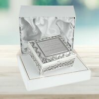 Girl's 16th Birthday Gift Engraved Sixteenth Silver Plated Trinket Box 16 Gifts