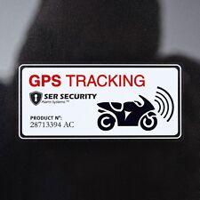 2 Motorbike SECURITY WARNING STICKER -Alarm GPS Tracker Device-Motorcycle Bike
