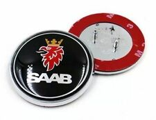 NEW Saab 9-5 9-3 Black Front Hood Bonnet Emblem Badge Symbol Logo 68MM 2.625""