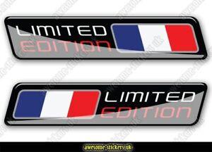 2 x FRENCH flag stickers 002 Renault Citroen Peugeot cars decals vinyl van