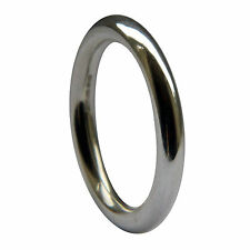 Vente 3mm 18 Carats or Blanc Halo Bague Anneau Mariage 7.4g Taille P ( USA 7